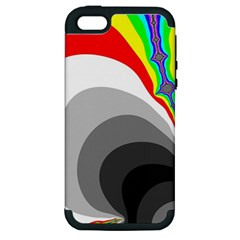 Background Image With Color Shapes Apple Iphone 5 Hardshell Case (pc+silicone)
