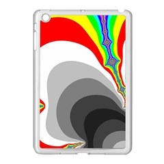 Background Image With Color Shapes Apple iPad Mini Case (White)