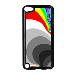 Background Image With Color Shapes Apple Ipod Touch 5 Case (black)
