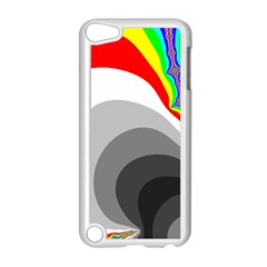 Background Image With Color Shapes Apple iPod Touch 5 Case (White)