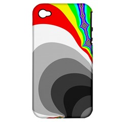 Background Image With Color Shapes Apple iPhone 4/4S Hardshell Case (PC+Silicone)
