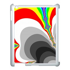 Background Image With Color Shapes Apple iPad 3/4 Case (White)