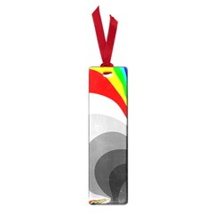 Background Image With Color Shapes Small Book Marks