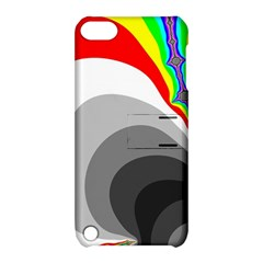 Background Image With Color Shapes Apple iPod Touch 5 Hardshell Case with Stand