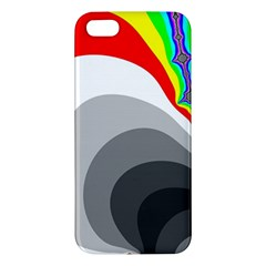 Background Image With Color Shapes Apple iPhone 5 Premium Hardshell Case