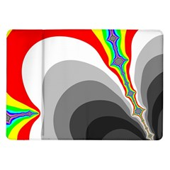 Background Image With Color Shapes Samsung Galaxy Tab 10.1  P7500 Flip Case