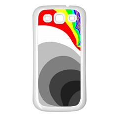 Background Image With Color Shapes Samsung Galaxy S3 Back Case (White)