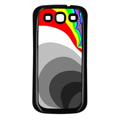 Background Image With Color Shapes Samsung Galaxy S3 Back Case (Black)