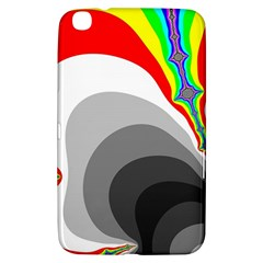 Background Image With Color Shapes Samsung Galaxy Tab 3 (8 ) T3100 Hardshell Case