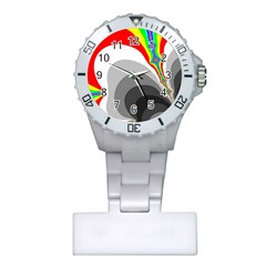 Background Image With Color Shapes Plastic Nurses Watch