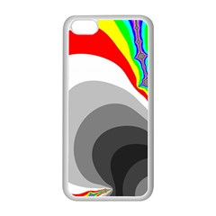 Background Image With Color Shapes Apple iPhone 5C Seamless Case (White)