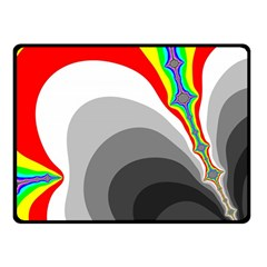 Background Image With Color Shapes Double Sided Fleece Blanket (Small)