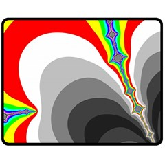 Background Image With Color Shapes Double Sided Fleece Blanket (Medium)