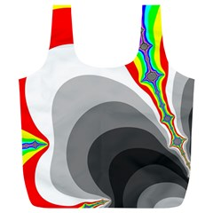 Background Image With Color Shapes Full Print Recycle Bags (L)