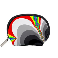 Background Image With Color Shapes Accessory Pouches (small)
