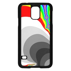 Background Image With Color Shapes Samsung Galaxy S5 Case (Black)