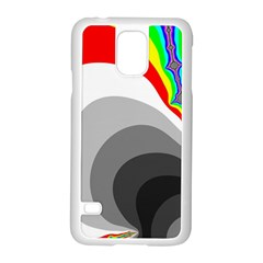 Background Image With Color Shapes Samsung Galaxy S5 Case (White)