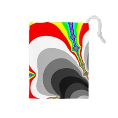 Background Image With Color Shapes Drawstring Pouches (medium)