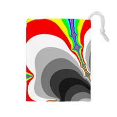 Background Image With Color Shapes Drawstring Pouches (Large)