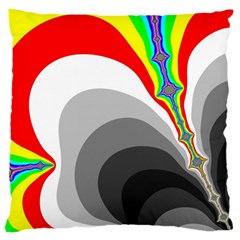 Background Image With Color Shapes Large Flano Cushion Case (One Side)