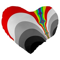 Background Image With Color Shapes Large 19  Premium Flano Heart Shape Cushions