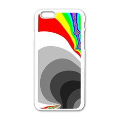 Background Image With Color Shapes Apple iPhone 6/6S White Enamel Case
