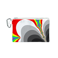 Background Image With Color Shapes Canvas Cosmetic Bag (S)
