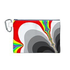 Background Image With Color Shapes Canvas Cosmetic Bag (M)