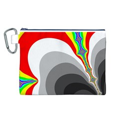 Background Image With Color Shapes Canvas Cosmetic Bag (L)