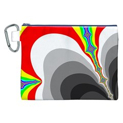 Background Image With Color Shapes Canvas Cosmetic Bag (XXL)