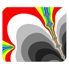 Background Image With Color Shapes Double Sided Flano Blanket (small)