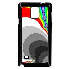 Background Image With Color Shapes Samsung Galaxy Note 4 Case (Black)