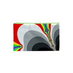 Background Image With Color Shapes Cosmetic Bag (xs)