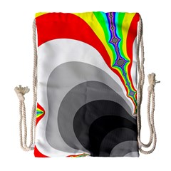 Background Image With Color Shapes Drawstring Bag (large)