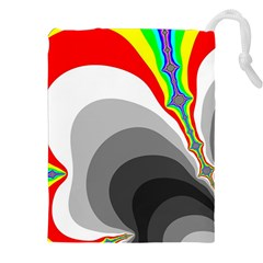 Background Image With Color Shapes Drawstring Pouches (xxl)