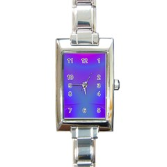 Violet Fractal Background Rectangle Italian Charm Watch