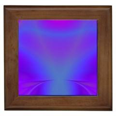Violet Fractal Background Framed Tiles