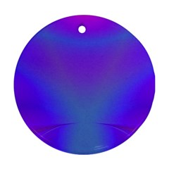 Violet Fractal Background Ornament (round)