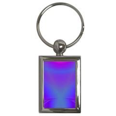 Violet Fractal Background Key Chains (rectangle)