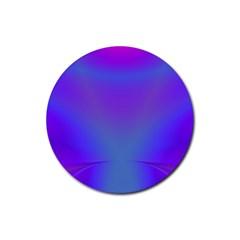 Violet Fractal Background Rubber Coaster (round)