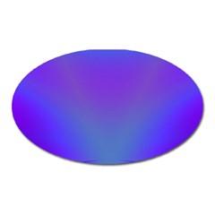 Violet Fractal Background Oval Magnet