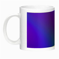 Violet Fractal Background Night Luminous Mugs