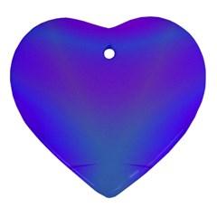Violet Fractal Background Heart Ornament (two Sides)
