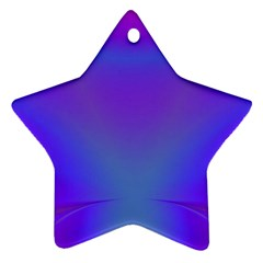 Violet Fractal Background Star Ornament (two Sides)