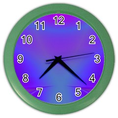 Violet Fractal Background Color Wall Clocks