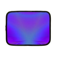 Violet Fractal Background Netbook Case (small)