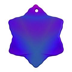 Violet Fractal Background Ornament (snowflake)