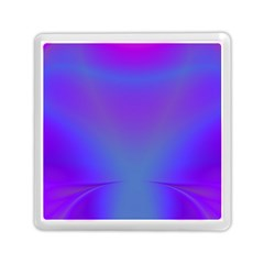 Violet Fractal Background Memory Card Reader (square)