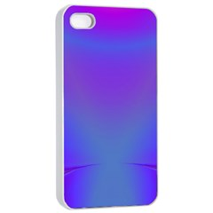 Violet Fractal Background Apple iPhone 4/4s Seamless Case (White)