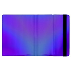 Violet Fractal Background Apple iPad 3/4 Flip Case